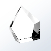 "Crystal Glimmer Award is available in two different sizes. 4 7/8""Height and 6""Height"
