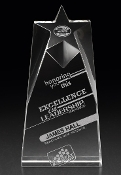 The Crystal Nova Star Award is a popular Corporate Crystal Plaque.
