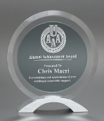 Clear Glass Awards, Smoke Orb Glass Award - Bigheadawards.net