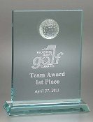 "Fairway Golf Award and Trophy is available in two different sizes. 8"" Height, 9"" Height."