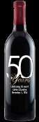 50 Years Personalized Etched Wine Bottle