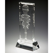 "The Crystal Victory Flame Award is available in 12""Height"