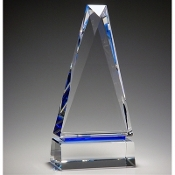 "The Crystal Obelisk of Success Award is available in 9 3/4""Height"