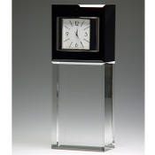 "Best Wishes Crystal Clock - Size 6 1/2""H"