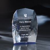"The Normandy Crystal Award is available in 9""Height"