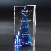 "The Savanna Crystal Award is available in 8""Height"