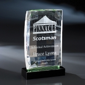"The Pyxis Crystal Award is available in 8""Height"