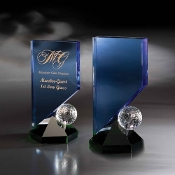 "Hideaway Crystal Golf Award, Sizes: 9""H"