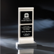 "The Sheridan Crystal Stone Award is available in 10""Height"