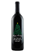 Presents Personalized Etched Wine Bottle [HAPPYHOLIDAYS] - $69.00 : Etched Wine Bottles, Personalized Wine Corporate Wine Gift Labeled Wine Bottles