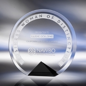 Clear Glass Awards, Cyrk Award - Black - Bigheadawards.net