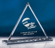 "Crystal Pyramid Award, Sizes: 7""H, 8 3/4""H, 10 1/2""H"